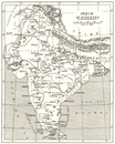 INDIA: India in Dioceses. Anglican christian church;1922 map